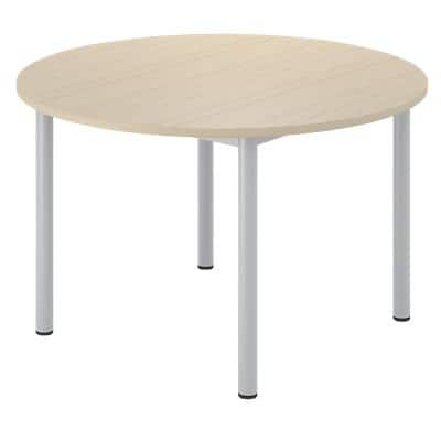 Circle Desk with White MFC Top and White Frame Optima G 1200 x 1200 x 720 mm