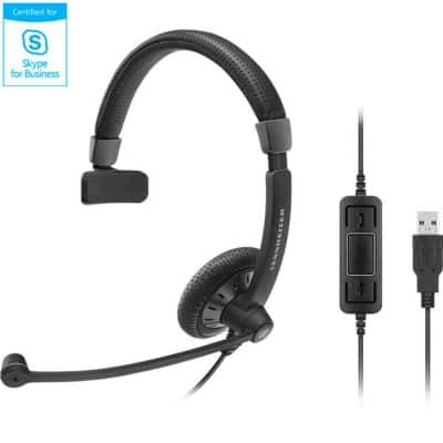 Sennheiser Headset SC 40 USB MS Black Over-the-head