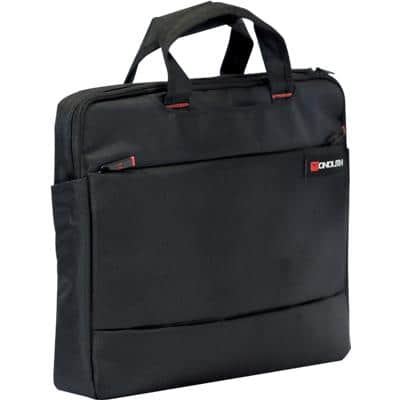 Monolith Laptop Bag Motion II Slimline 15.6 Inch Polyester Black 41 x 31 x 7 cm