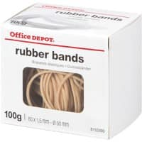 Office Depot Rubber Bands Ø 50 mm 80 x 1.5 mm 100 g
