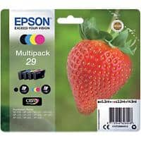 Epson 29 Original Ink Cartridge C13T29864012 Black & 3 Colours Pack of 4
