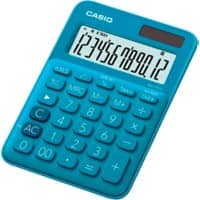 Casio Desktop Calculator MS-20UC-BU 12 Digit Display Blue