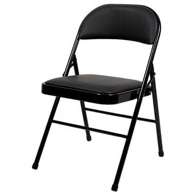 Realspace Folding Chairs Black Pack of 4