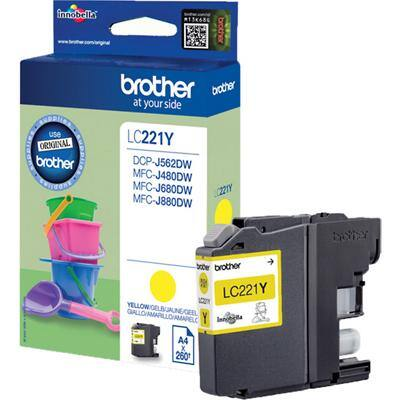 Brother LC221Y Original Ink Cartridge Yellow