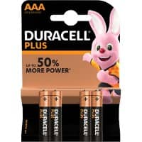 Duracell AAA Alkaline Batteries Plus Power MN2400 LR03 1.5V Pack of 4