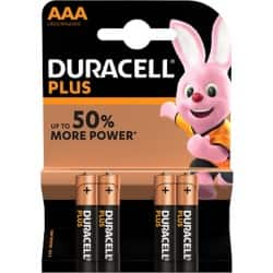 Duracell Battery Plus Power AAA 4 pieces 4 pieces