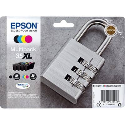 Epson 35XL Original Ink Cartridge C13T35964010 Black & 3 Colours Pack of 4