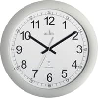 Acctim Analog Wall Clock 74417 30 x 3cm Silver