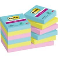 Post-it Super Sticky Notes 47.6 x 47.6 mm Assorted Pack of 12 of 90 Sheets