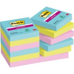 Post-it Super Sticky Notes Miami Assorted 48 x 48 mm 70gsm 12 pieces of 90 sheets