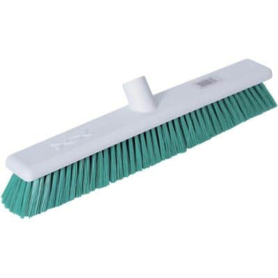 Robert Scott Broom Head Stiff Bristles Green