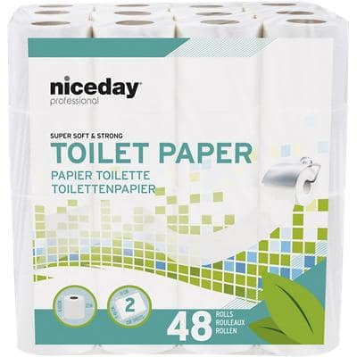NICEDAY PROFESSIONAL Toilet Rolls Standard 2 Ply 48 Pieces of 200 Sheets