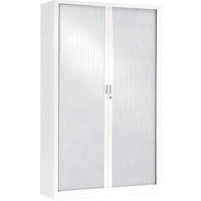 Pierre Henry Tambour Cupboard Lockable with 4 Shelves Steel Generic 1000 x 430 x 1980 mm White