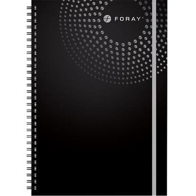 Foray Executive A5 Wirebound Black Hardback Cover Notebook Ruled 200 Pages