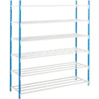 ARNO SPACE Shelving Unit Blue, Grey 1,250 x 1,000 x 1,750 mm