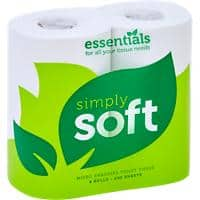 essentials Toilet Rolls Simply-Soft 2 Ply 36 Rolls of 200 Sheets
