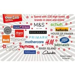 One4all Gift Card Spend Here £100