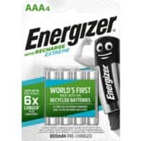 Energizer AAA Rechargeable Batteries Extreme Pack of 4