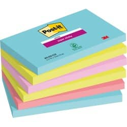 Post-it Super Sticky Notes Miami Assorted 76 x 127 mm 70gsm 6 pieces of 90 sheets