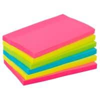 Office Depot Extra Sticky Notes 127 x 76 mm Assorted Neon 6 Pads of 90 Sheets