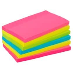 Office Depot Extra Sticky Notes 76 x 127 mm Assorted Neon 6 Pieces of 90 Sheets