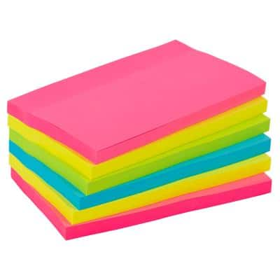 Office Depot Extra Sticky Notes 127 x 76 mm Assorted Neon 6 Pieces of 90 Sheets