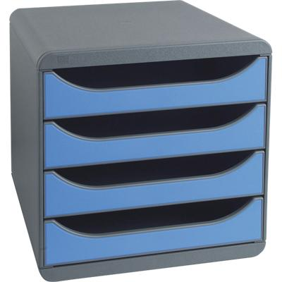 Exacompta Drawer Unit Big-Box A4+ Grey, Ice Blue 24.7 x 32.4 x 4.2 cm