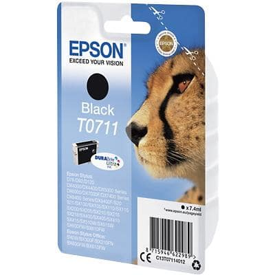 Epson T0711 Original Ink Cartridge C13T07114012 Black