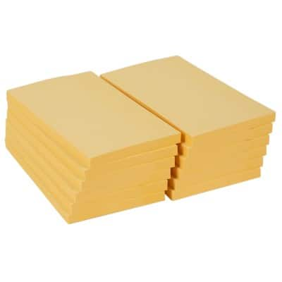Office Depot Extra Sticky Notes 76 x 127 mm Pastel Yellow 12 Pieces of 90 Sheets