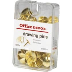 Office Depot Drawing Pins Copper 100 pieces
