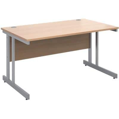 Dams International Straight Desk Momento Beech 1,400 x 800 x 725 x 725 - 725 mm