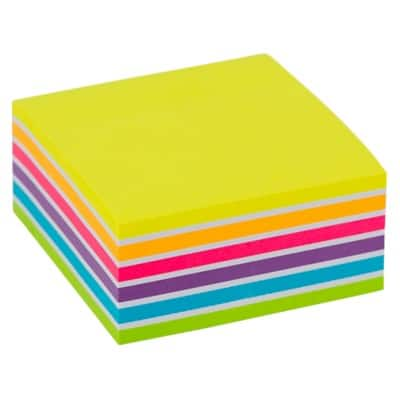 Office Depot Sticky Note Cube 76 x 76 mm Assorted 400 Sheets
