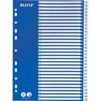Leitz Indices 12526001 A4 Blue 31 Part Perforated Polypropylene 1 to 31