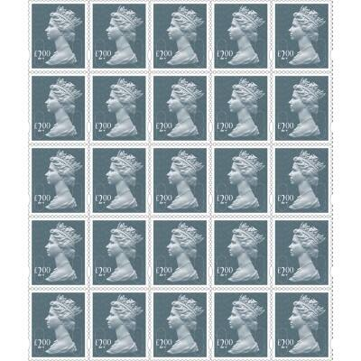 Royal Mail £2.00 Postage Stamps 25 Pieces