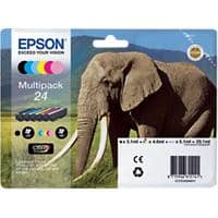 Epson 24 Original Ink Cartridge C13T24284011 Black & 5 Colours Pack of 6