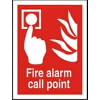 Fire Alarm Call Point Sign Fire Alarm Call Point PVC 15 x 20 cm