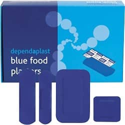 Plasters Food Area Blue Dependaplast Assorted Box of 100