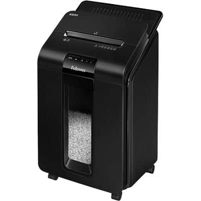 Fellowes AutoMax 100M Mini-Cut Shredder Security Level P-4 100 Automatic & 10 Manual Sheets