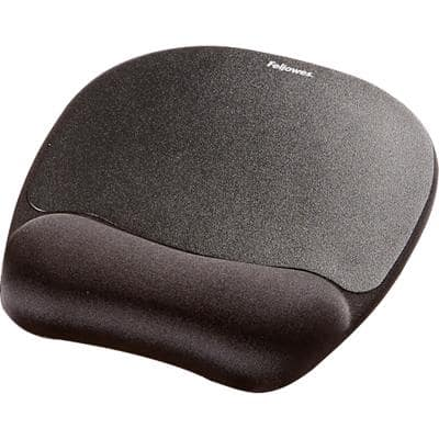 Fellowes Mouse Pad with Wrist Support Black