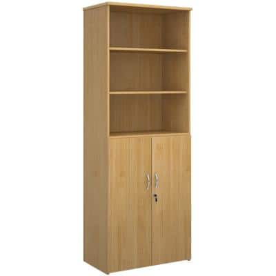 Dams International Combination Unit with Lockable Door and 3 Shelves Universal 800 x 470 x 2140 mm Oak