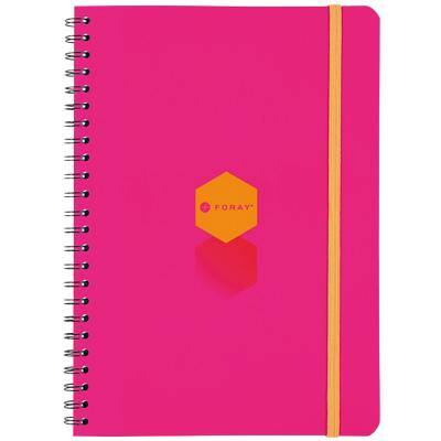 Foray Generation Notebook Pink, Orange Ruled A5