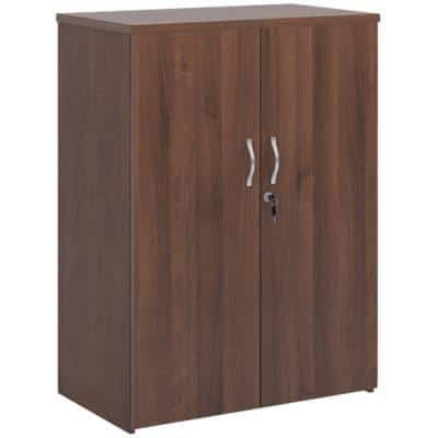 Dams International Cupboard Lockable with 2 Shelves Melamine Universal 800 x 470 x 1090mm Walnut