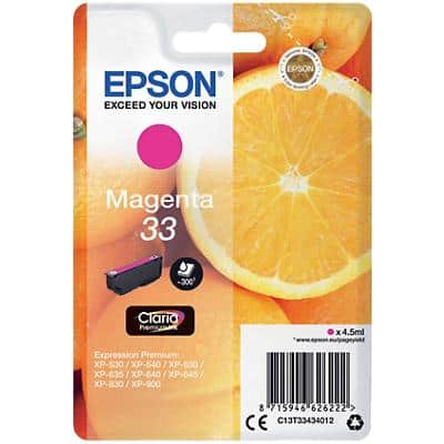 Epson 33 Original Ink Cartridge C13T33434012 Magenta