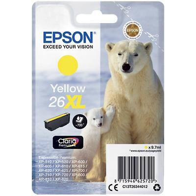 Epson 26XL Original Ink Cartridge C13T26344012 Yellow