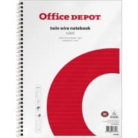 Office Depot Notebook A4+ Ruled White, Red 5 Pieces of 80 Sheets