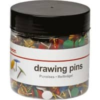Office Depot Drawing Pins Assorted 10.5mm Pack of 1000