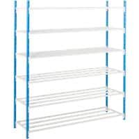 ARNO SPACE Shelving Unit Blue, Grey 750 x 1,000 x 1,750 mm