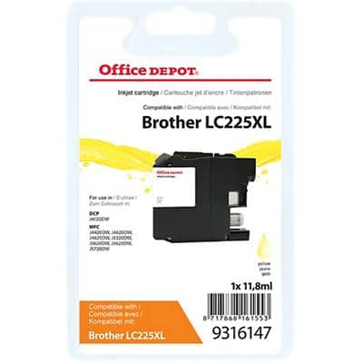 Office Depot Compatible Brother LC225XL Ink Cartridge Yellow