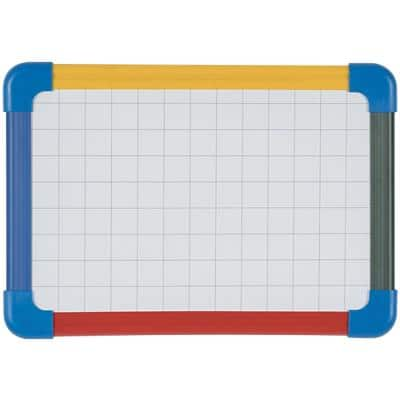 Bi-Office A4 Plain Gridded Magnetic Mini Whiteboard Lacquered Steel 21 x 29.7 cm