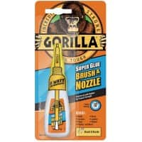 Gorilla Super Glue Brush & Nozzle Transparent 12 g